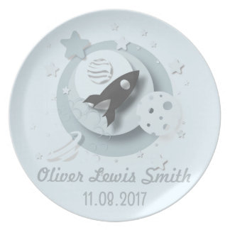 Customisable Moon & Stars Melamine Plate