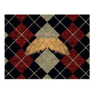 Customisable Moustache Bling Postcards