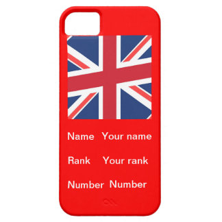 Customisable name, Rank and number iPhone 5 Cover