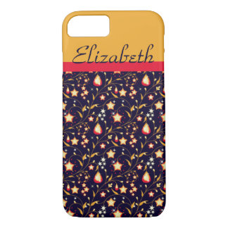 Customisable Night Stars Floral Pattern iPhone 7 Case
