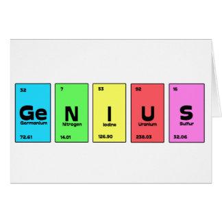 Customisable Periodic Table Genius Card
