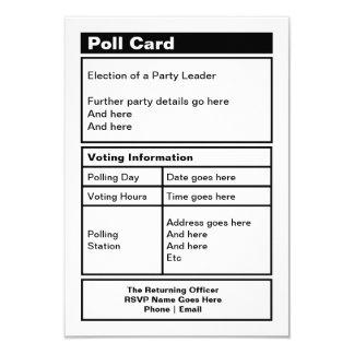 Customisable Politico Party Invitation