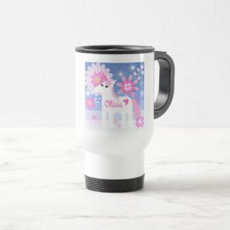 Customisable Pretty Pink Unicorn Travel Mug