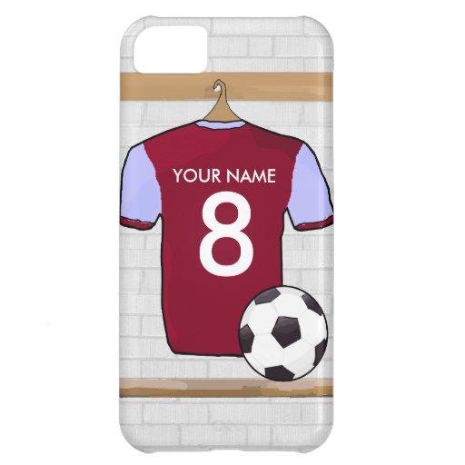 Customisable Soccer Shirt (claretblue) Case For iPhone 5C