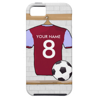 Customisable Soccer Shirt (claretblue) iPhone 5 Cover