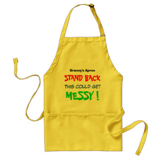 Customisable - Stand Back This Could Get Messy Standard Apron