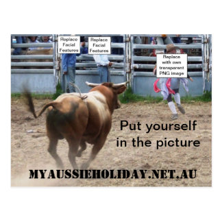 Customise 'Charging Bull' Postcard