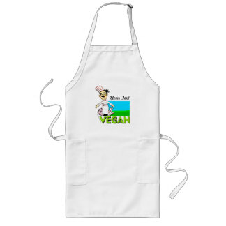 customise your vegan-vegetarian cook long apron
