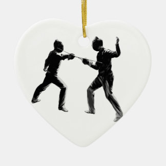 Customiseable Vintage fencing Gifts Ceramic Ornament