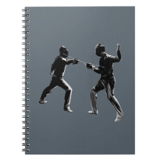 Customiseable Vintage fencing Gifts Notebook