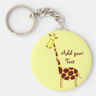 Customisez-le ! Porte - clé de girafe Porte-clé Rond