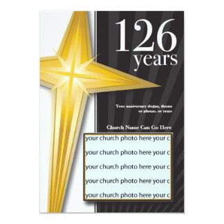 "Customizable 126 Year Church Anniversary 5"" X 7"" Invitation Card"