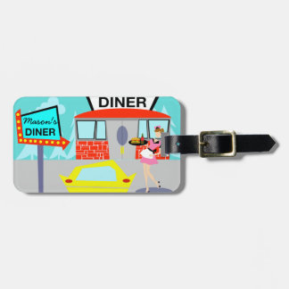 Customizable 1950's Diner Luggage Tag