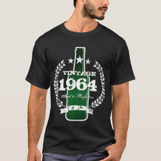 Customizable 1964 vintage beer bottle label shirt