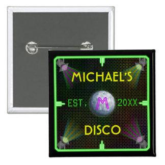 Customizable 1970's Disco Ball 2 Inch Square Button