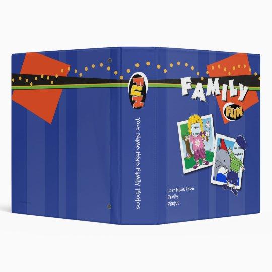 Customizable 1.5 inch Famiy Photo Album 3 Ring Binder