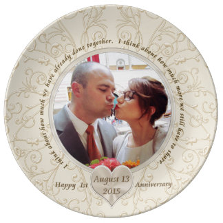 Customizable 1st Anniversary Gift Ideas for Her Plate