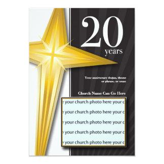 "Customizable 20 Year Church Anniversary 5"" X 7"" Invitation Card"