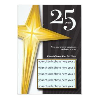 "Customizable 25 Year Church Anniversary 5"" X 7"" Invitation Card"