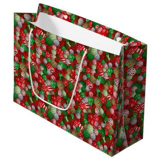 Customizable 3D Christmas Balls Large Gift Bag