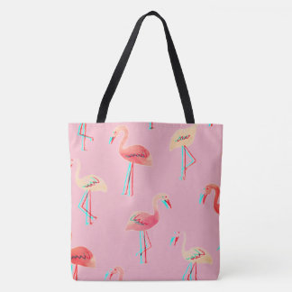 customizable 3D flamingo tote bag