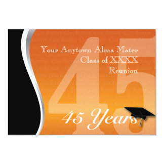 Customizable 45 Year Class Reunion Card
