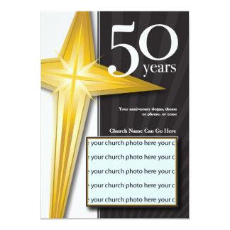 "Customizable 50 Year Church Anniversary 5"" X 7"" Invitation Card"
