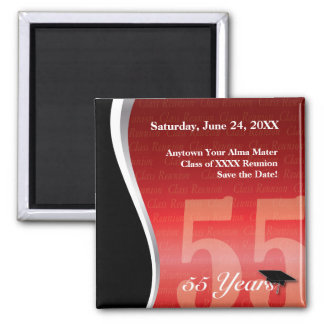 Customizable 55 Year Class Reunion Magnet