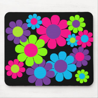 Customizable 60s Flower Power Mouse Pad