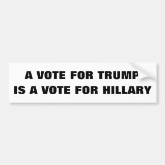 Customizable A vote for Trump is a vote 4 Hillary Bumper Sticker