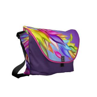 Customizable Abstract Pastel Petals Rickshaw Bag Messenger Bag