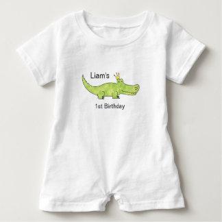 Customizable Alligator 1st Birthday Romper