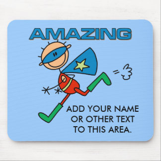 Customizable Amazing Boy Hero Mousepad