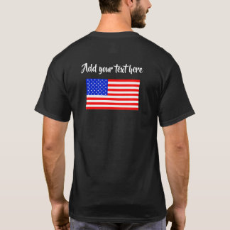 Customizable American flag dark shirt