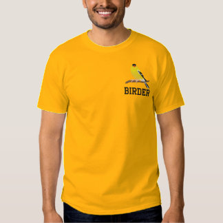 Customizable American Goldfinch Embroidered T-Shirt