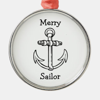 Customizable Anchor Metal Ornament