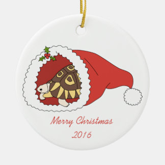 Customizable Angulate Tortoise Ornament