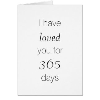 Customizable Anniversary Card - Counting Days Love