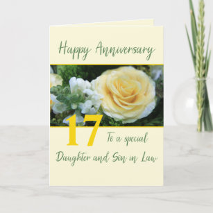 Customizable Anniversary Daughter and Son in Law Card