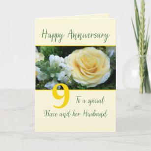 Customizable Anniversary  Niece & Husband Card