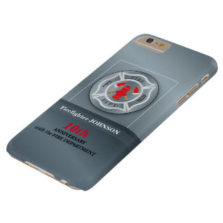 Customizable, Anniversary with Fire Department Barely There iPhone 6 Plus Case