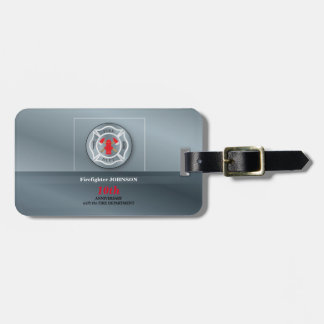 Customizable, Anniversary with Fire Department Luggage Tag