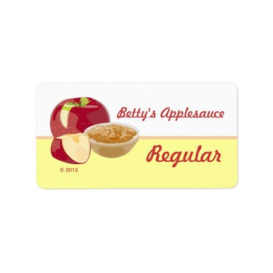 Customizable Applesauce Lables