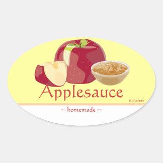 Customizable Applesauce Oval Sticker