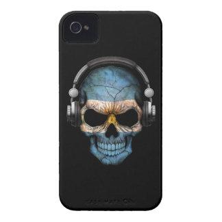 Customizable Argentine Dj Skull with Headphones iPhone 4 Cover