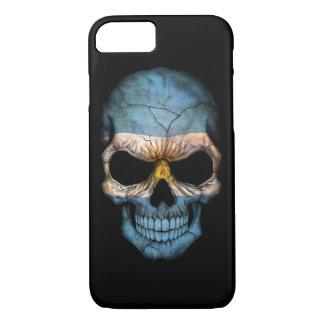 Customizable Argentine Flag Skull iPhone 7 Case