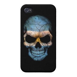 Customizable Argentine Flag Skull iPhone 4 Cover