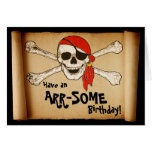 Customizable ARR-SOME Pirate Skull Greeting Card