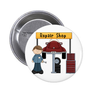 Customizable Auto Repair Shop Tees and Gifts Buttons