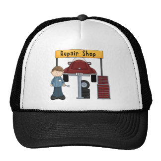 Customizable Auto Repair Shop Tees and Gifts Trucker Hat